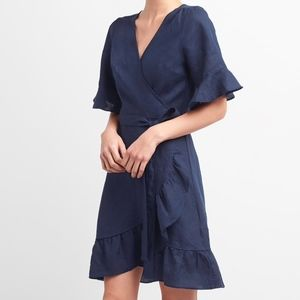 Wrap Ruffle Midi Dress